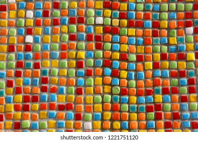 the colorful little mosaic background