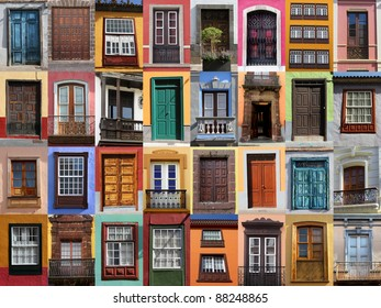 Colorful living - European doors and windows of Mediterranean