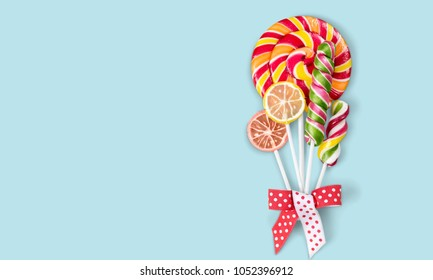 Colorful lolipop candy