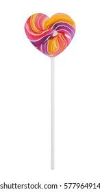 Colorful Lollipop on white background with clipping path