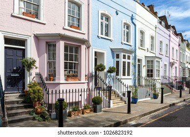 Colorful London Houses.