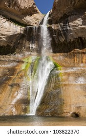 The colorful Lower Calf Creek Falls, Grand Staircase-Escalante National Monument, Utah, United States