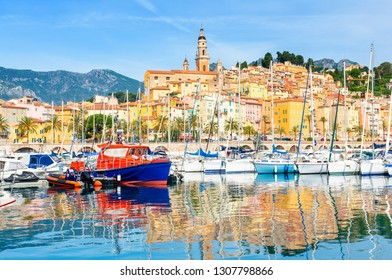 colorful luxury town Menton in south France