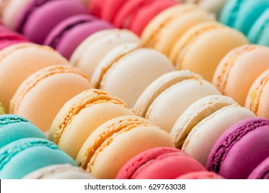 colorful macaroon macro, shallow dof