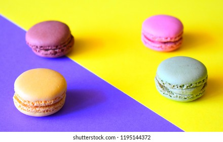 Colorful Macaroons Background
