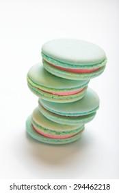 Colorful macaroons isolation on a white background