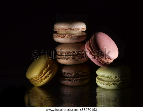 colorful macaroons stack