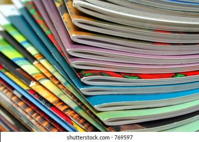 Colorful magazines