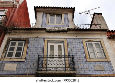 Colorful and majestic old houses in Lisbon, Portugal
