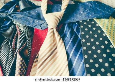 Colorful man ties