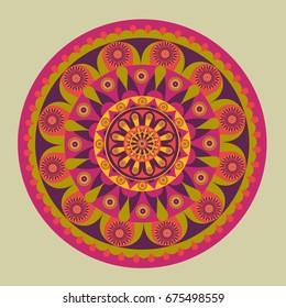 Colorful mandala design pattern./Mandala Design