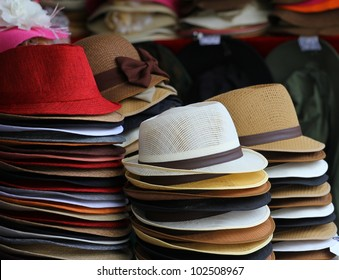 colorful of many hats