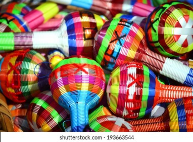 Colorful maracas from Mexico