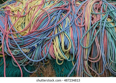 colorful marine rope texture