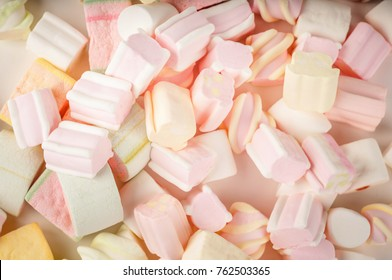 Colorful marshmallows texture background.