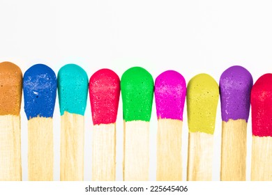 colorful matches