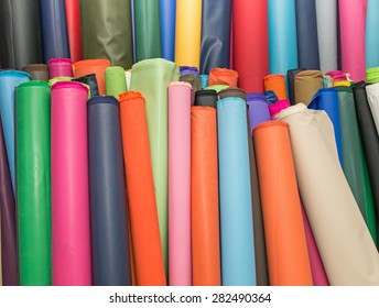 Colorful material fabric rolls