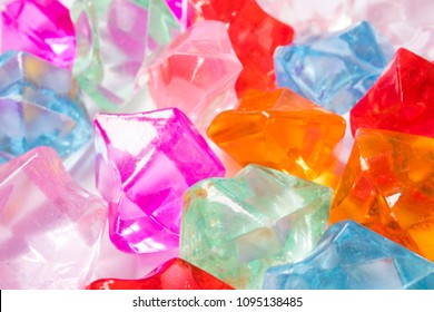 Colorful matted glass stones