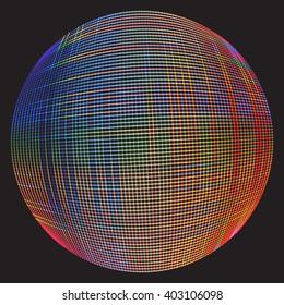 Colorful Mesh Ball
