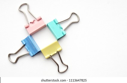 Colorful Metal Binder Clips