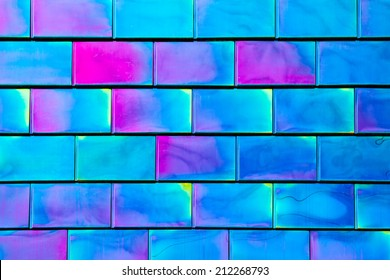 Colorful Metallic Panels Background