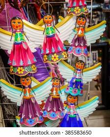 Colorful Mexican Angel Souvenirs Christmas Decorations San Miguel de Allende Mexico
