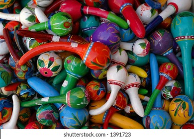 Colorful Mexican Maracas