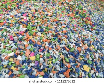 Colorful mix plastic material,Texture and background