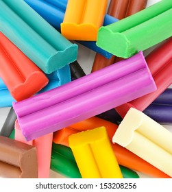 Colorful modelling clay background