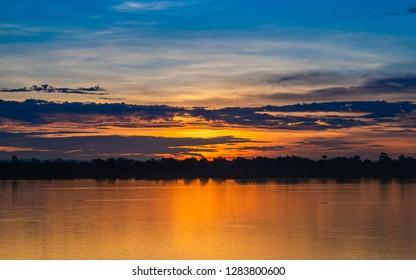 Colorful of morning sunrise