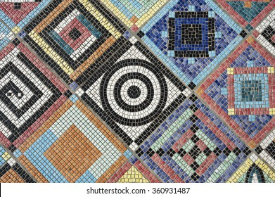 colorful mosaic flooring or wall