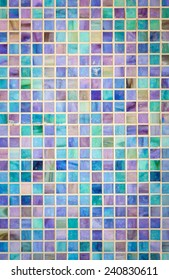 Colorful mosaic glass tile wall