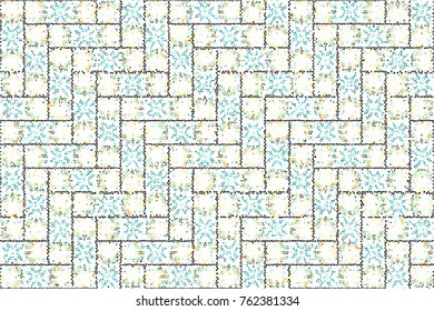 Colorful mosaic pattern for textile, design and backgrounds