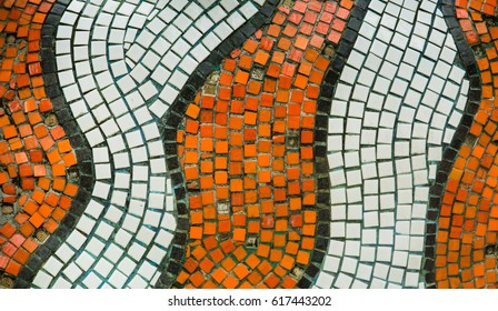 colorful  mosaic paving