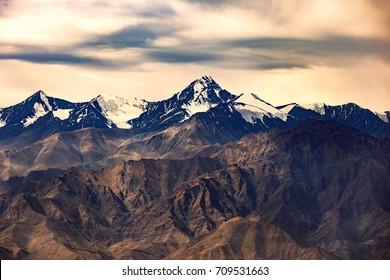 Colorful  mountain at Ladakh india.