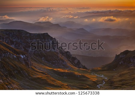 Colorful mountain scenes from the Carpathians of Romania.