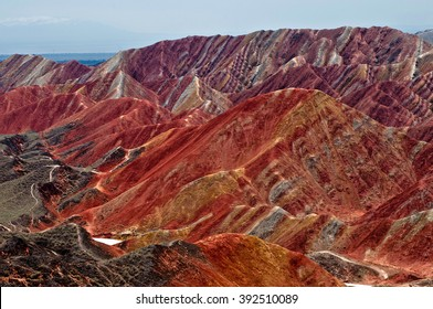 Colorful mountains, China
