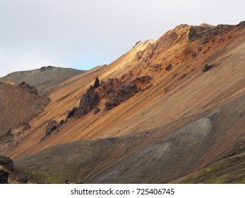 Colorful mountains at Landmannalaugar - start of Laugavegur trail, Iceland.