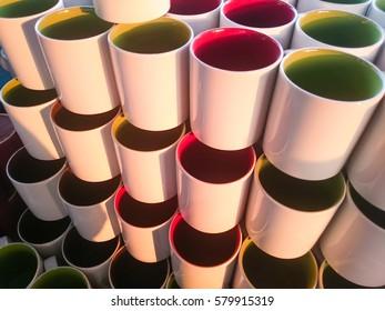 colorful mug background