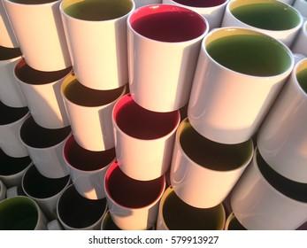 colorful mug ceramic background