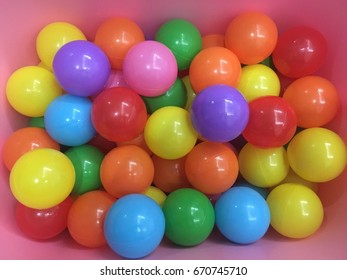 Colorful multi coloured children plastic balls