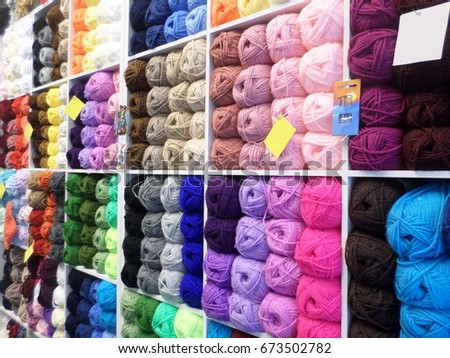 a287f6f6bebe8 colorful and multi-colored yarn for knitting. choices of colored knitting  yarn as background