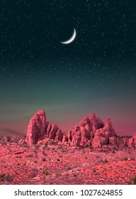 Colorful National Park in the Southwest USA