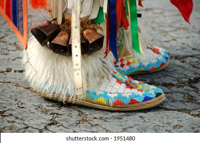 colorful Native American boots