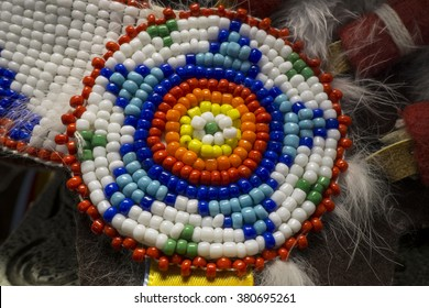 Colorful Native American Indian Beads Detail
