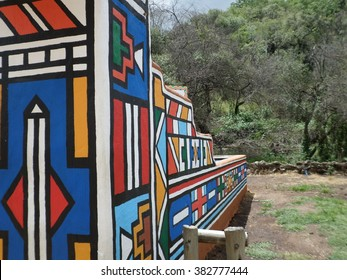 Colorful Ndebele Architecture, South Africa