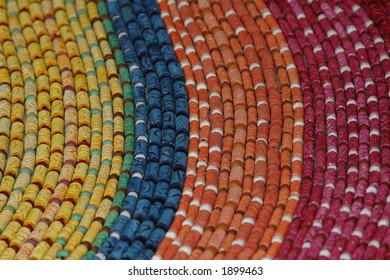 Colorful necklaces in a market in Cuba