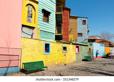 Colorful neighborhood La Boca, Buenos Aires Argentine