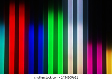 Colorful neon light, Neon-glow Background, Color spectrum of colors on a black background