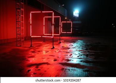 colorful neon lights